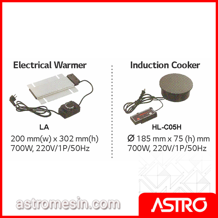 Accessories Electrical Warmer Induction Cooker Chafing Dish GETRA Surabaya