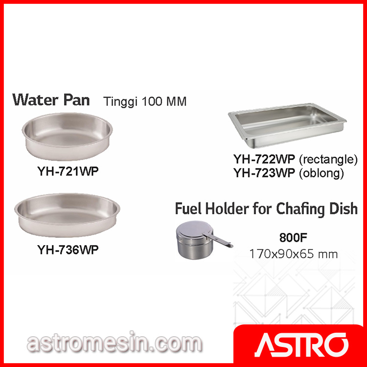 Accessories Water Pan Chafing Dish GETRA Surabaya