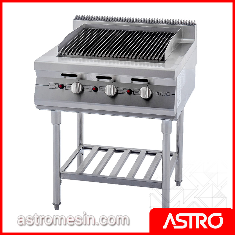 Gas Open Lava Rock Broiler WIth Stand GETRA RSD-3 Surabaya