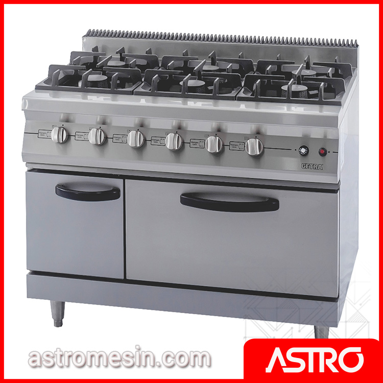 Kompor Resto - Gas Range Open Burner GETRA RBJ-6 Surabaya | Food Cooking Equipment