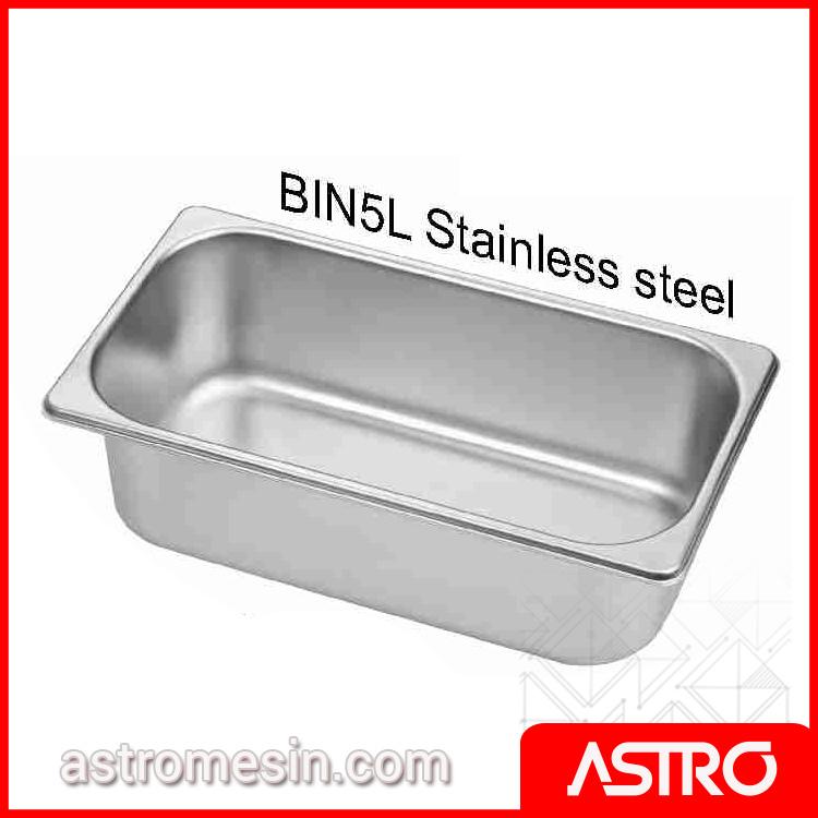 Ice Cream Bin Gelato Stainless Steel GETRA 5 Liter Surabaya