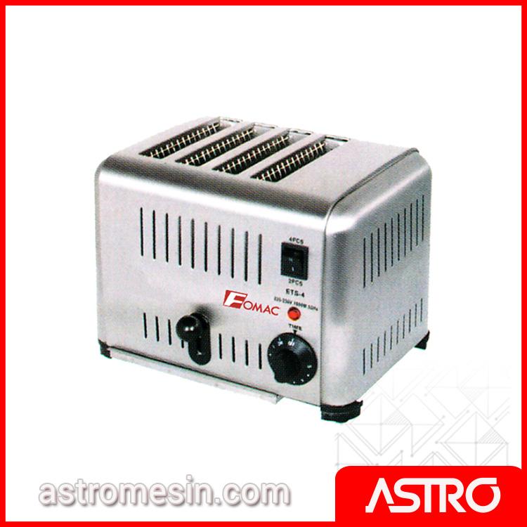 Mesin Bread Toaster Pemanggang Roti Tawar FOMAC BTT-DS4 Murah