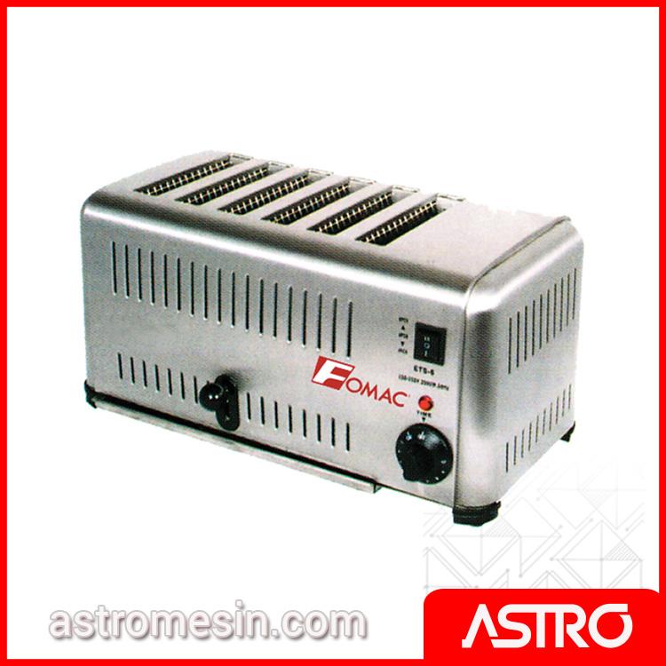 Mesin Bread Toaster Pemanggang Roti Tawar FOMAC BTT-DS6 Murah