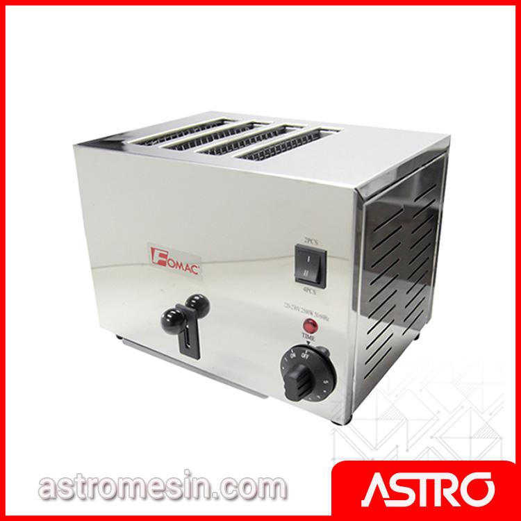 Mesin Bread Toaster Pemanggang Roti Tawar FOMAC BTT-S4A Murah