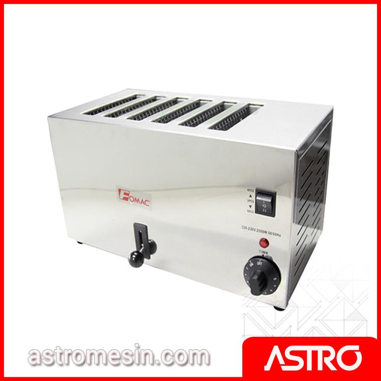 Mesin Bread Toaster Pemanggang Roti Tawar FOMAC BTT-S6A Murah