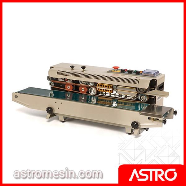 Mesin Continuous Sealer Plastik Horizontal ASTRO Surabaya