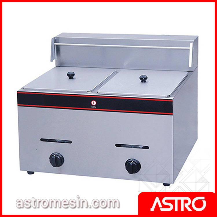Mesin Deep Fryer Gas ASTRO 2 Basket 12 Liter Surabaya