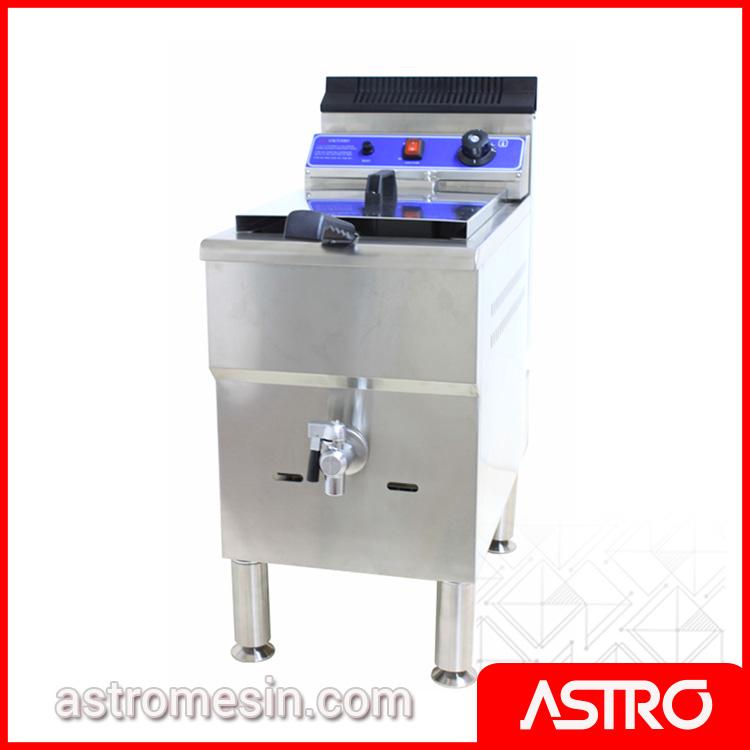 Mesin Deep Fryer Penggorengan Gas ASTRO 1 Basket 17 Liter Surabaya