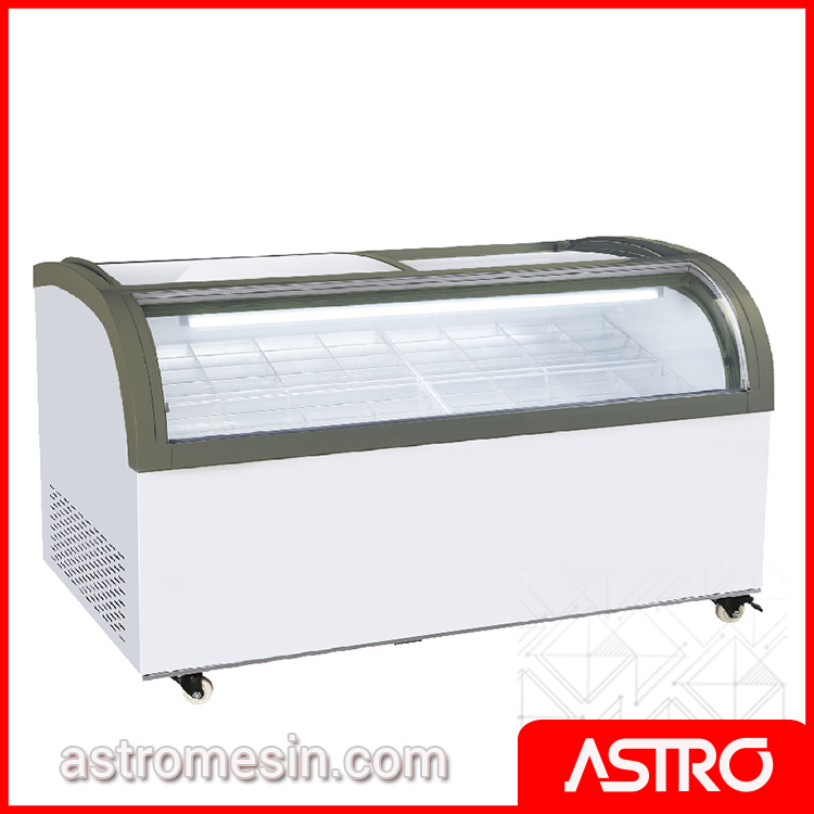 Sliding Curve Glass Freezer GEA SD-1500QS Surabaya