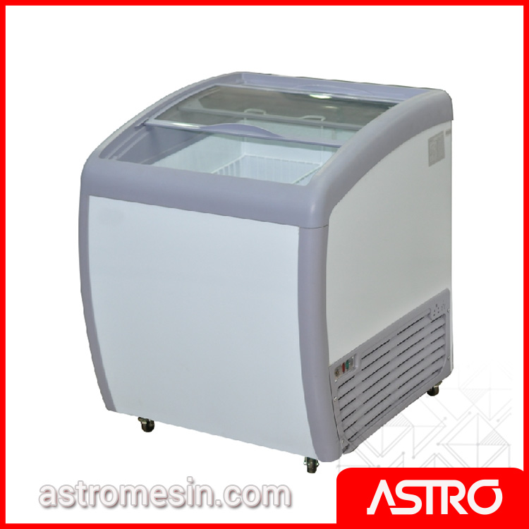Sliding Curve Glass Freezer GEA SD-160BY Surabaya
