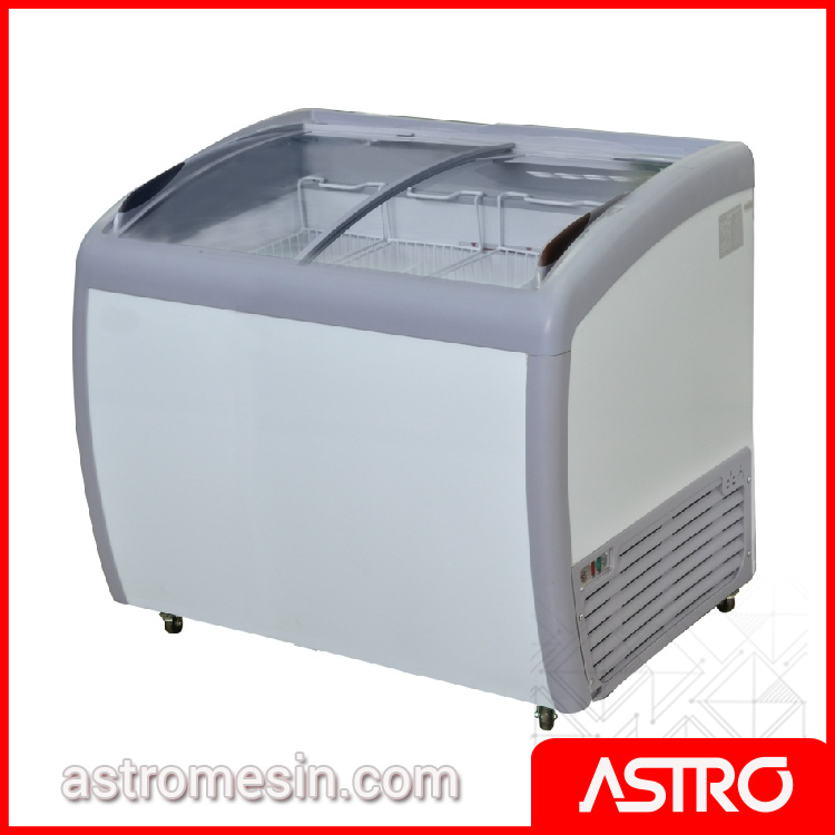 Sliding Curve Glass Freezer GEA SD-260BY Surabaya