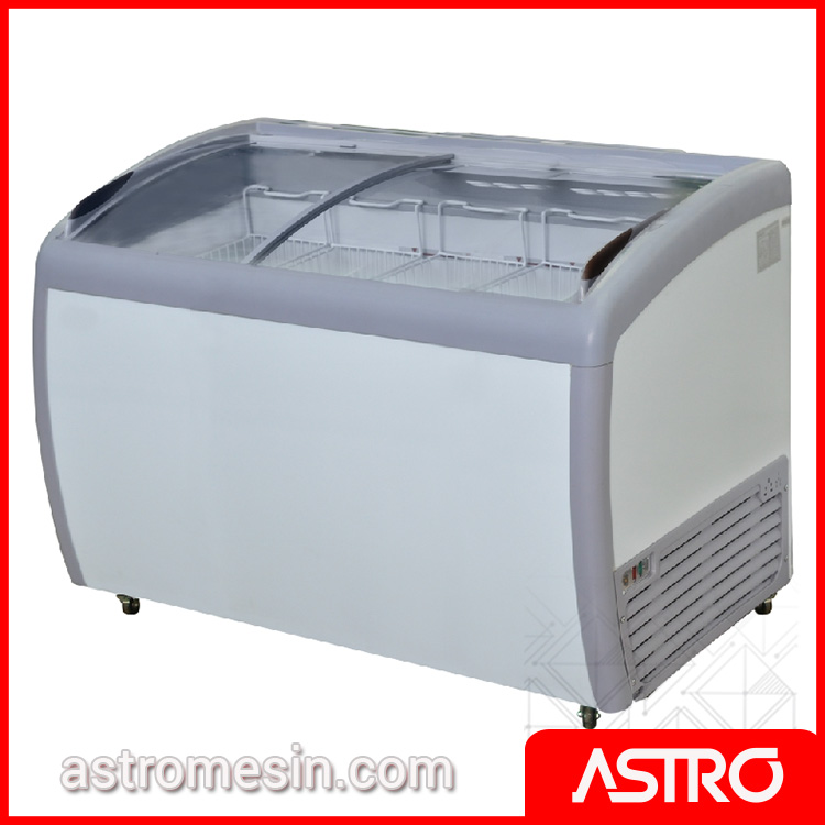 Sliding Curve Glass Freezer GEA SD-360BY Surabaya
