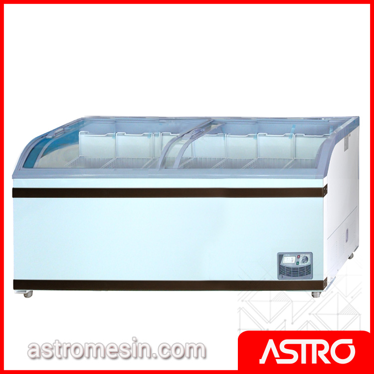 Sliding Curve Glass Freezer GEA SD-700BY Surabaya