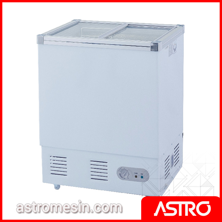 Sliding Flat Glass Freezer GEA SD-132P Surabaya