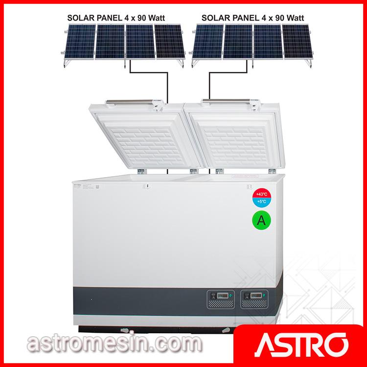 Solar System Vaccine Cooler Ice Pack Freezer GEA VLS-056-RF-SDD Surabaya