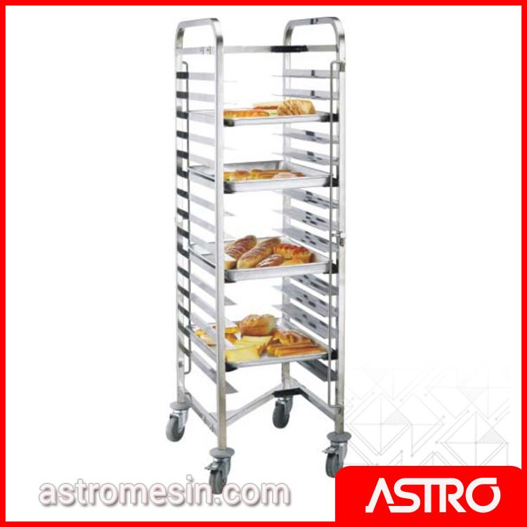 Stainless Steel Gastronom Bakery Trolley GETRA BPT-15 Surabaya