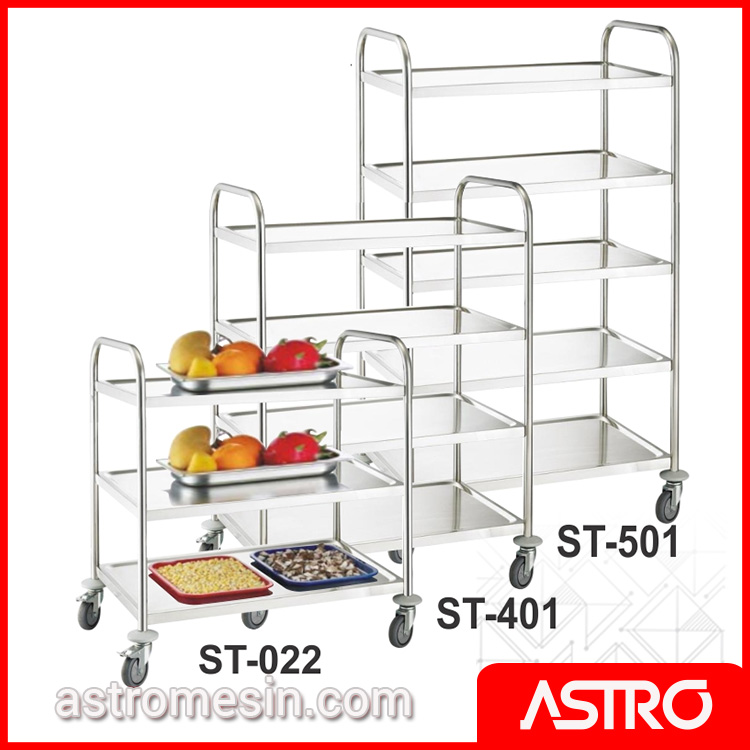 Kitchen Accessories - Stainless Steel Serving Trolley GETRA Tipe ST Surabaya
